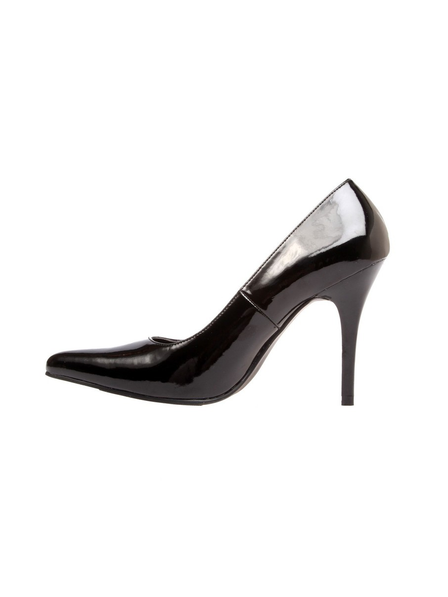 View larger image of Classic Plain 4 Black Glossy Pump
