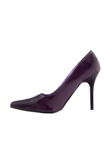 "Women's 4"" Classic Plain Purple Pump"