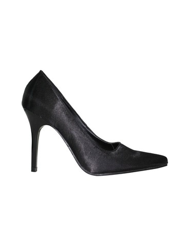 Classic Plain 4 Black Satin Pump
