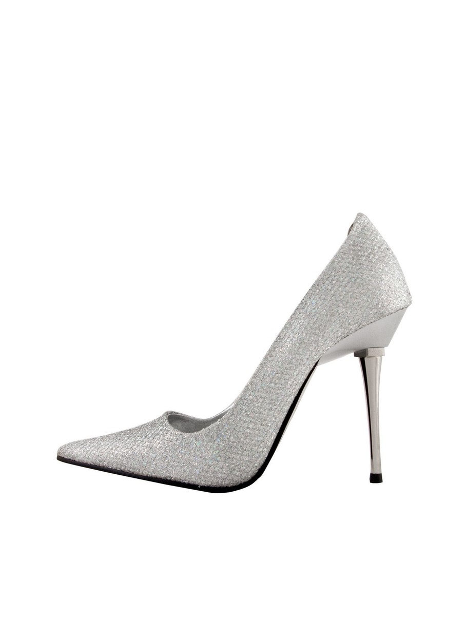 View larger image of Silver 4 Woven Glitter Pump