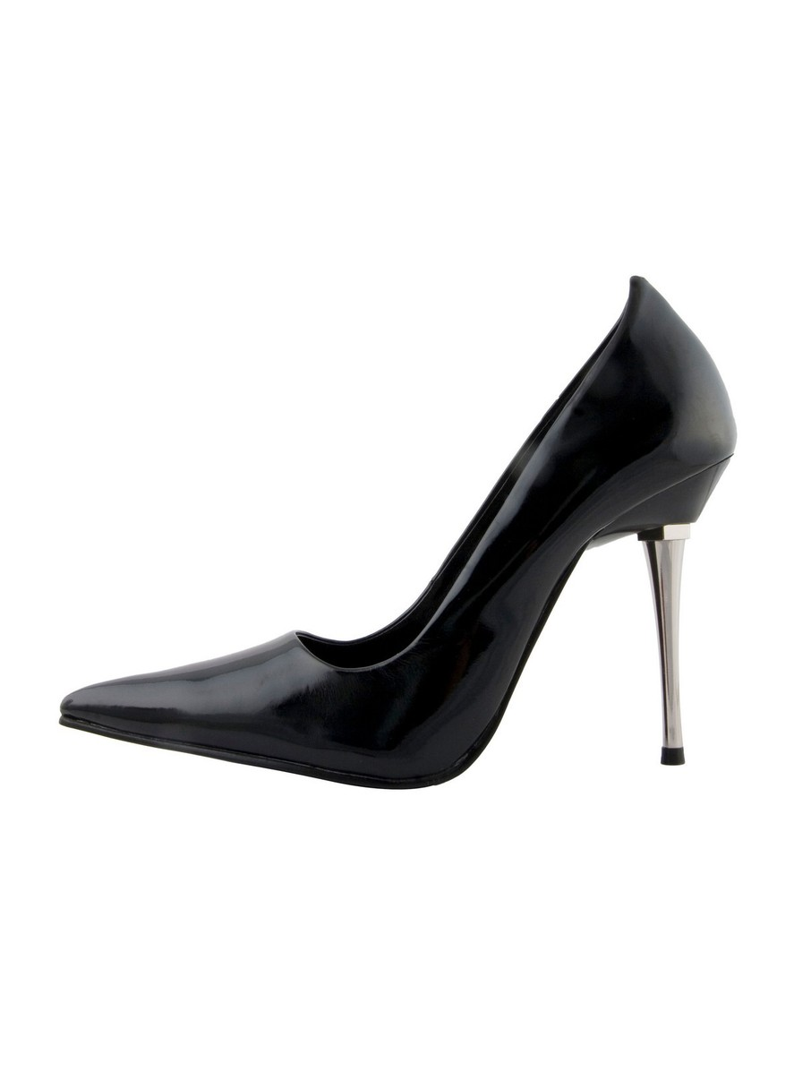View larger image of Black 4 Woven Glitter Pump