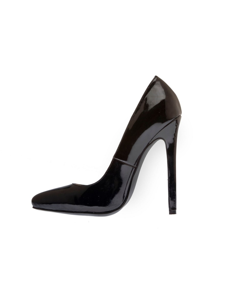 View larger image of Glossy Black 5 Heel Pump