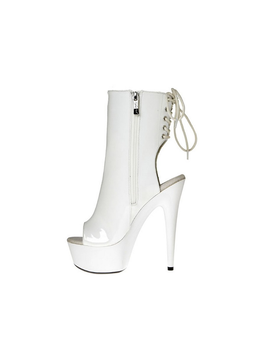 View larger image of White 6 Ankle Bootie with Zipper Pocket