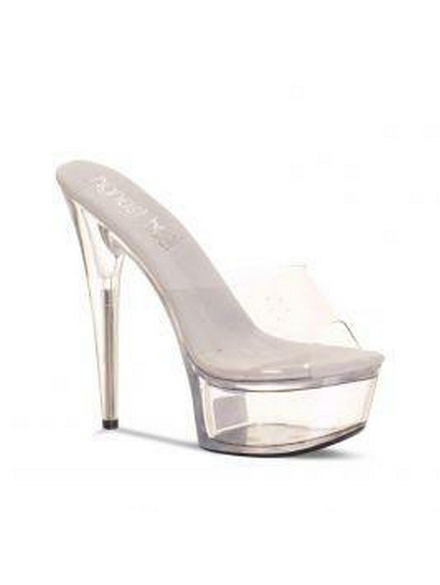 View larger image of 6 Clear Vamp Mule Heels