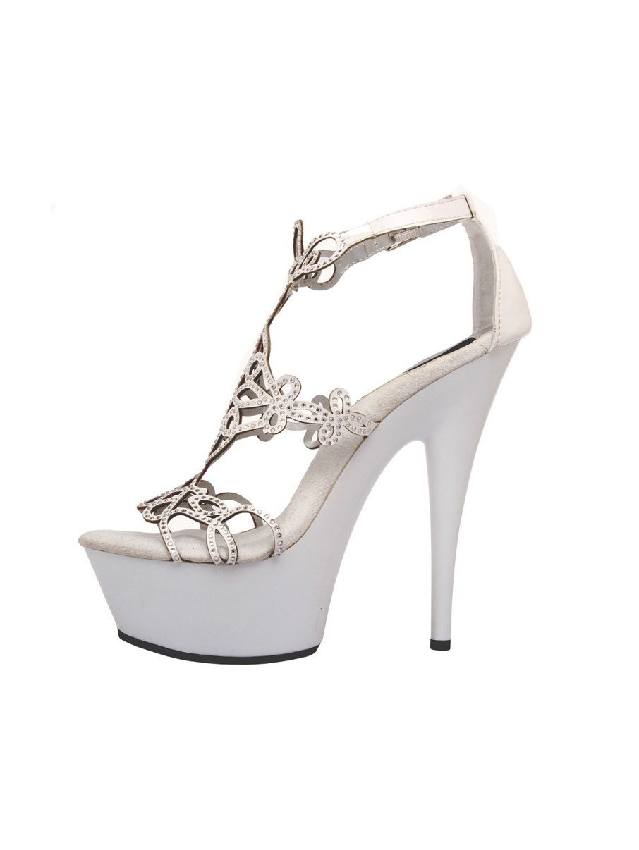View larger image of White 6 Platform with Intricate Cut-Out Design