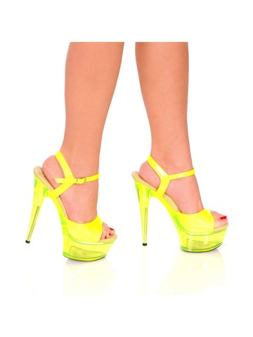 "Ladies 6"" Platform Heel Neon"