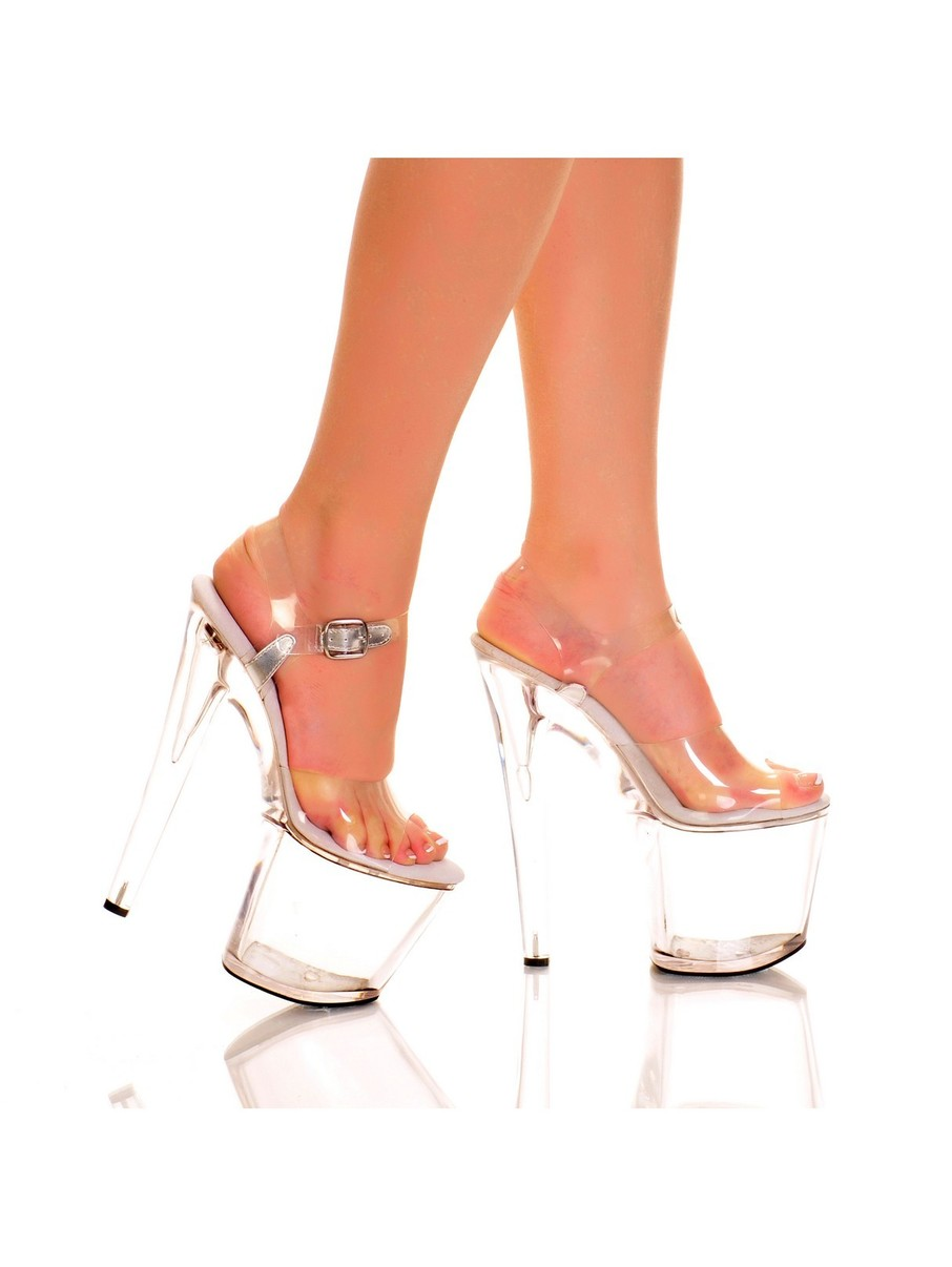 View larger image of Clear 7 Platform with Plain Vamp and Quarter Strap