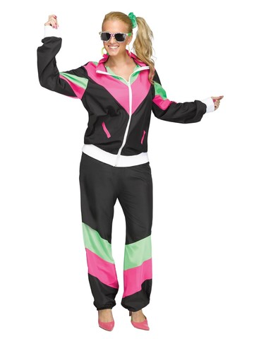 80's Track Suit Costume for Women