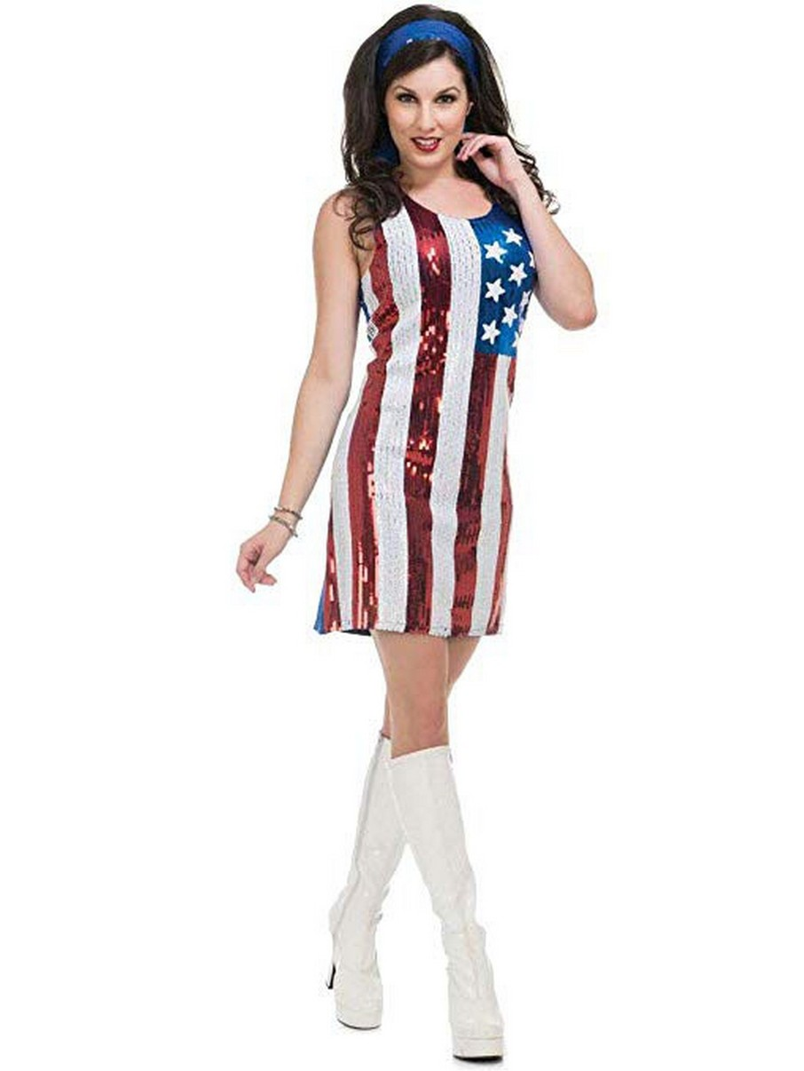 View larger image of American Flag Sequin Dress for Adults