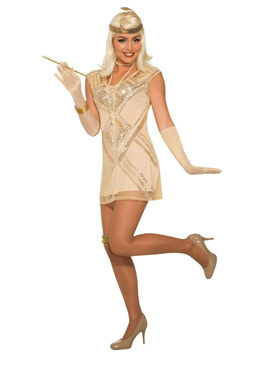 View larger image of Beaded Flapper Womens Costume