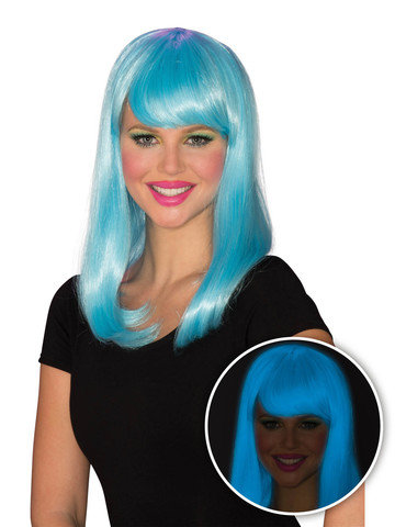 Blue Glow Babe Wig for Women