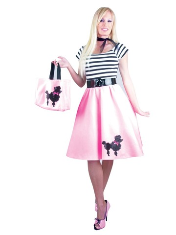 Womens Poodle Dress (Bubblegum Pink)