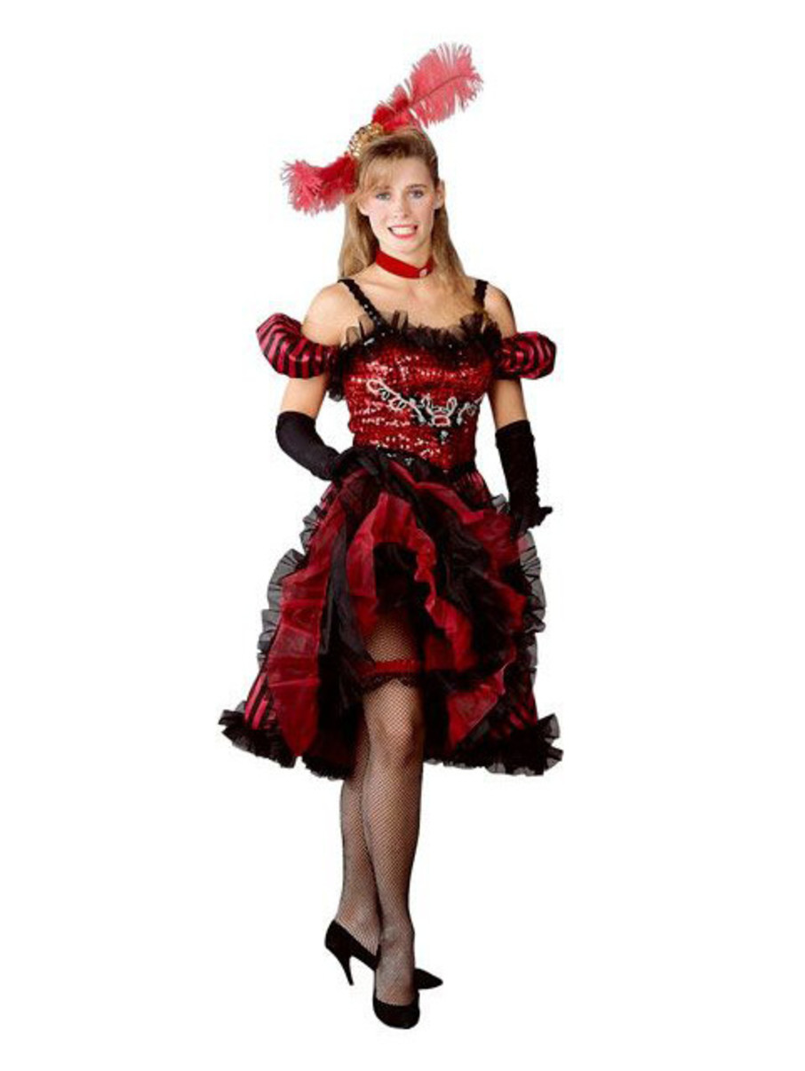 View larger image of Womens Cancan Girl Red Costume