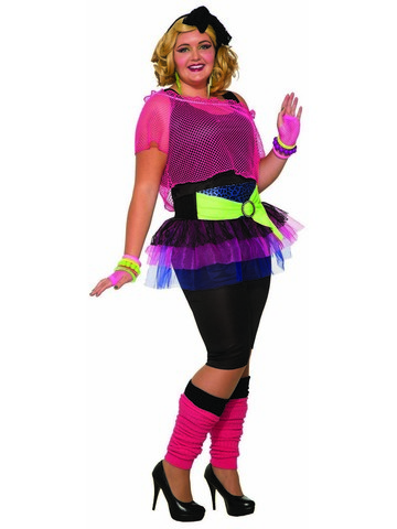 Womens Curvey 80's Throwback Costume