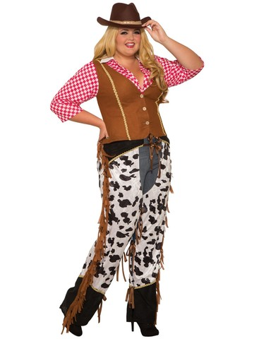 Curvy Cowgirl Rancher Womens Costume