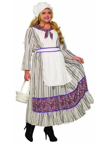 Curvy Pioneer Costume for Women