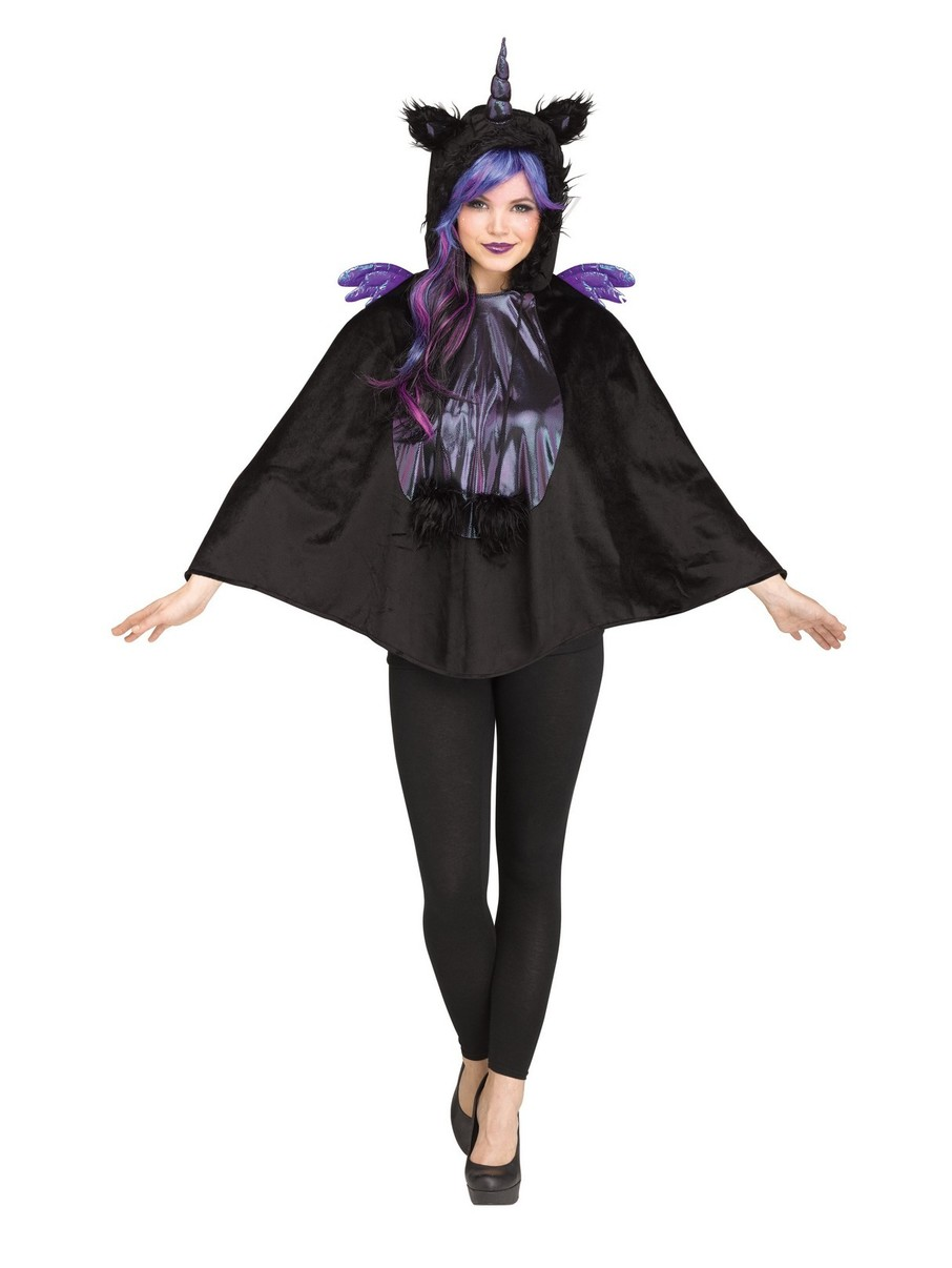 View larger image of Dark Unicorn Poncho Costume for Women