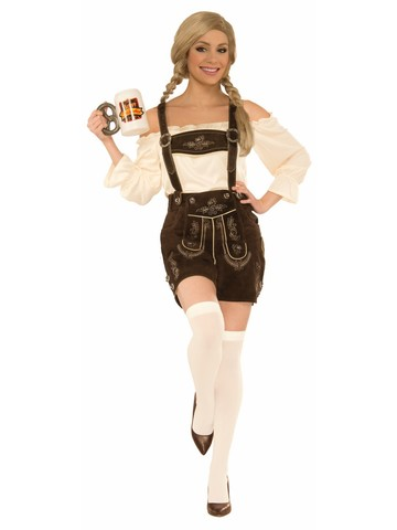 Women's Deluxe German Lederhosen Costume