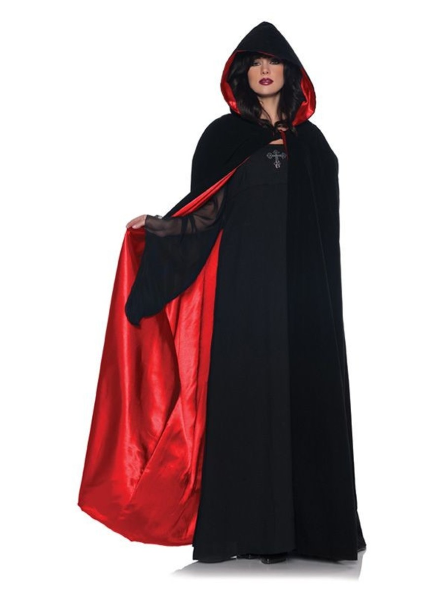 View larger image of Womens Deluxe Velvet & Red Satin Cape