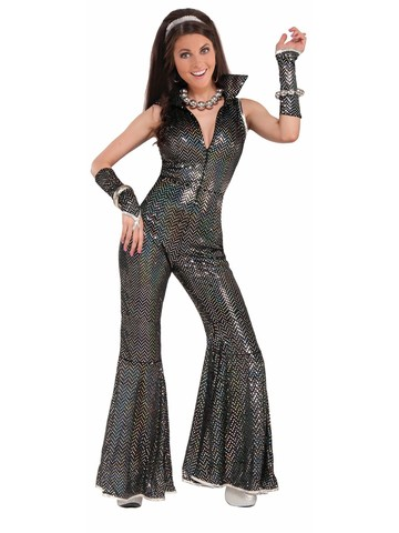 Women's Adult Disco Jumpsuit Costume
