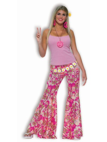 Womens Flower Child Bell Bottoms