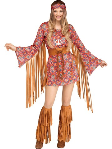 Free Spirit Hippie Costume for Women