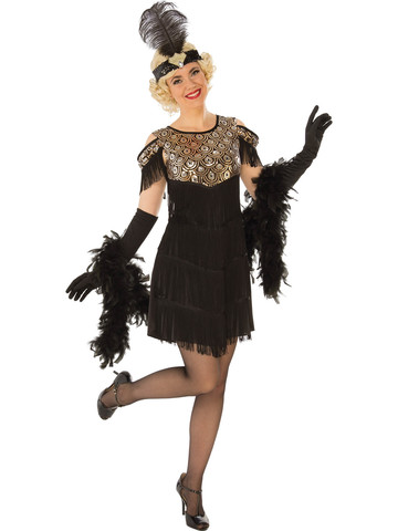 Gold Flapper Womens Costume