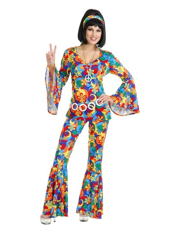Women's Flower Power Golden Gate Gal Costume