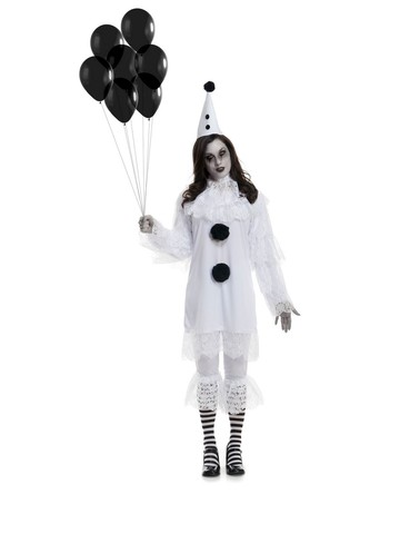 Women's Heart Broken Clown Costume