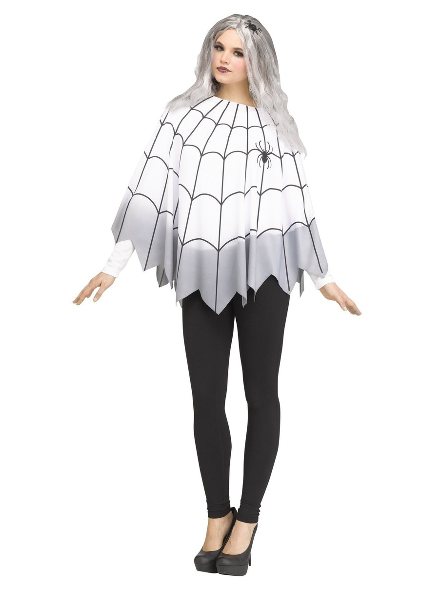 View larger image of Spider Web Ombre Poncho Costume for Women