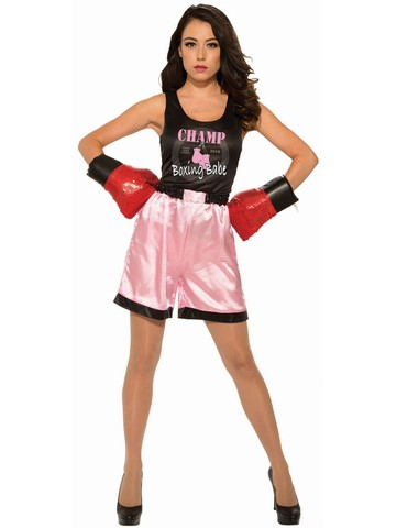Womens Adult Pink Boxer Costume