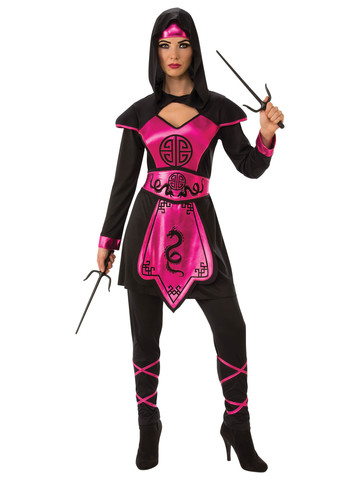 Pink Ninja Warrior Womens Costume