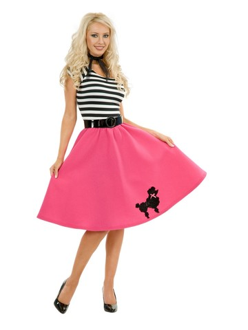 Womens Poodle Dress (Pink)
