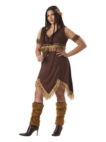Womens Plus Indian Princess Costume