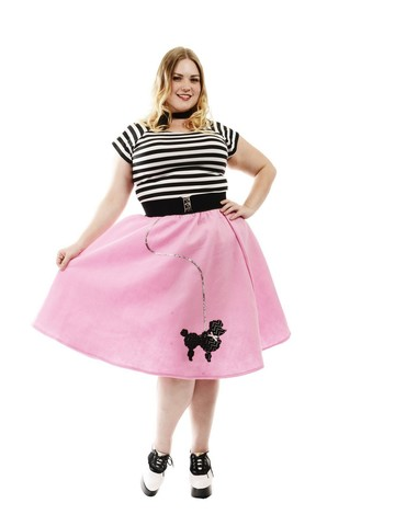 1950s Womens Poodle Skirt (Bubblegum Pink)