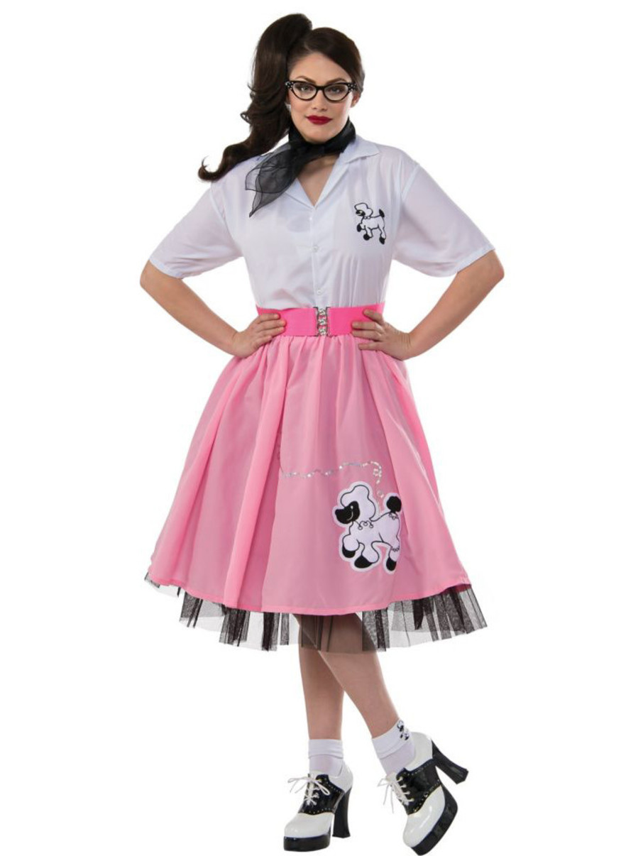 View larger image of Womens Plus Size Black and White 50's Poodle Outfit