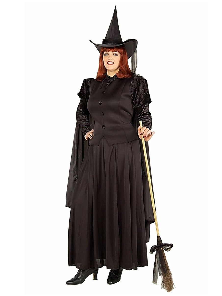 View larger image of Womens Plus Size Classic Witch Costume
