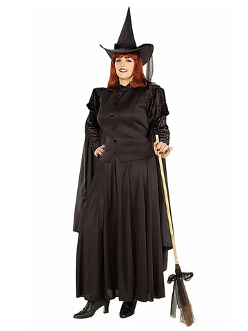 Womens Plus Size Classic Witch Costume