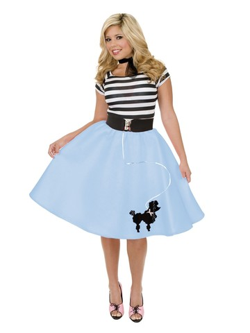 Womens Poodle Skirt (Blue)