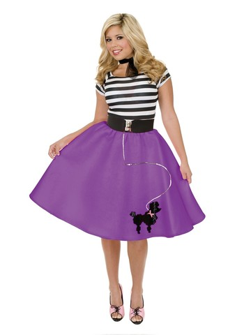 Womens Poodle Skirt (Purple)