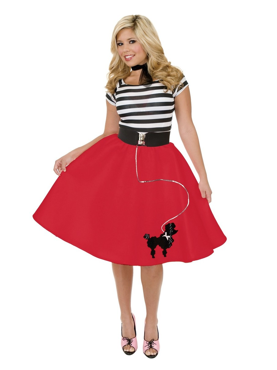 View larger image of Womens Poodle Skirt (Red)