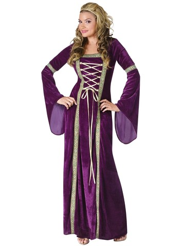 Womens Purple Renaissance Lady Costume
