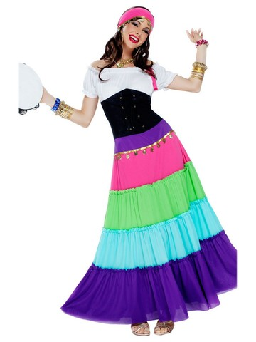 Renaissance Gypsy Costume Small Adult Classic