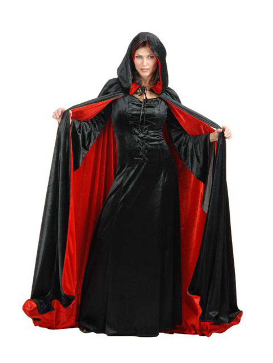 View larger image of Womens Reversible Black And Red Cloak
