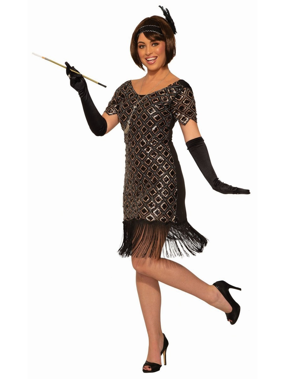 View larger image of Rose Gold Flapper Costume for Women