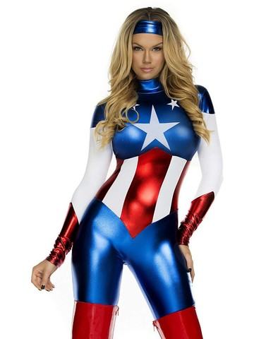 Womens Sexy American Beauty Jumpsuit Costume
