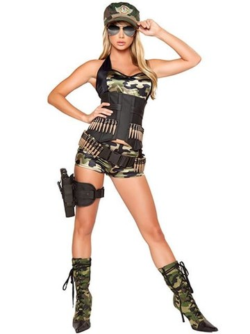 Women's Sexy Army Baby Deluxe Costume