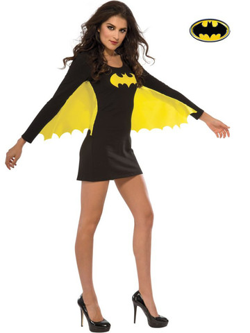 Womens Sexy Batgirl Wing Dress Costume