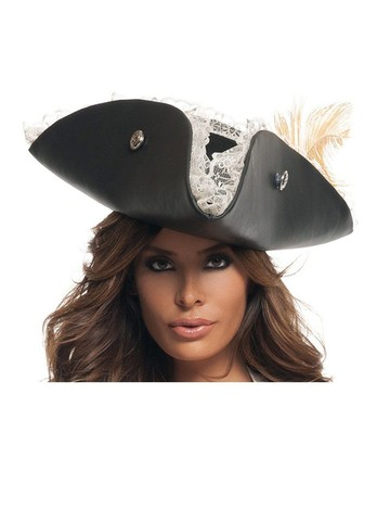 Women's Sexy Black Pearl Pirate Hat