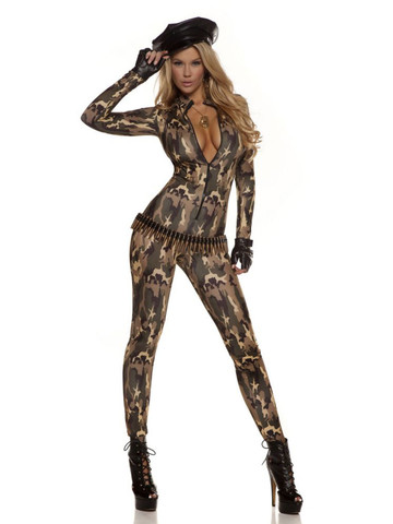 Womens Sexy Charming Cadet Catsuit Costume